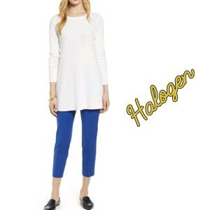 HALOGEN TAYLOR FIT CROPPED ANKLE PANTS
